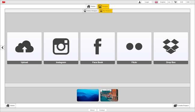 Photo Center 3D Social Images
