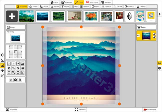 Photo center 3d e commerce online editor 3d sublimation for 3d editor online