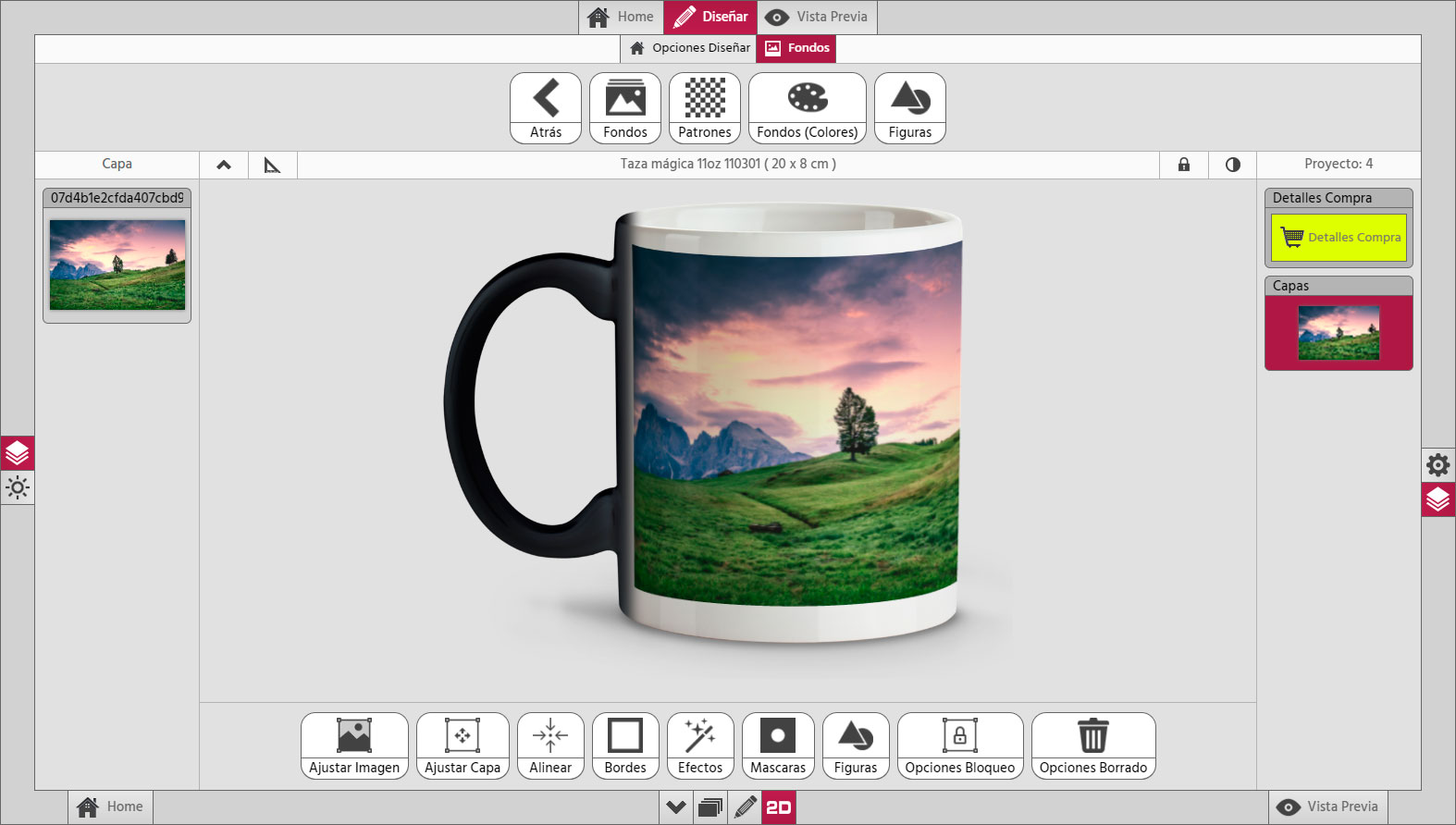 Photo Center 3D Taza Mockup